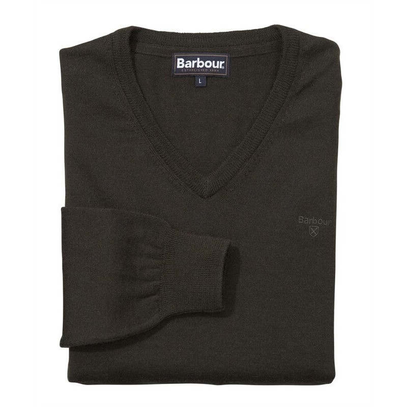Barbour Merino olive - Jerseys BARBOUR