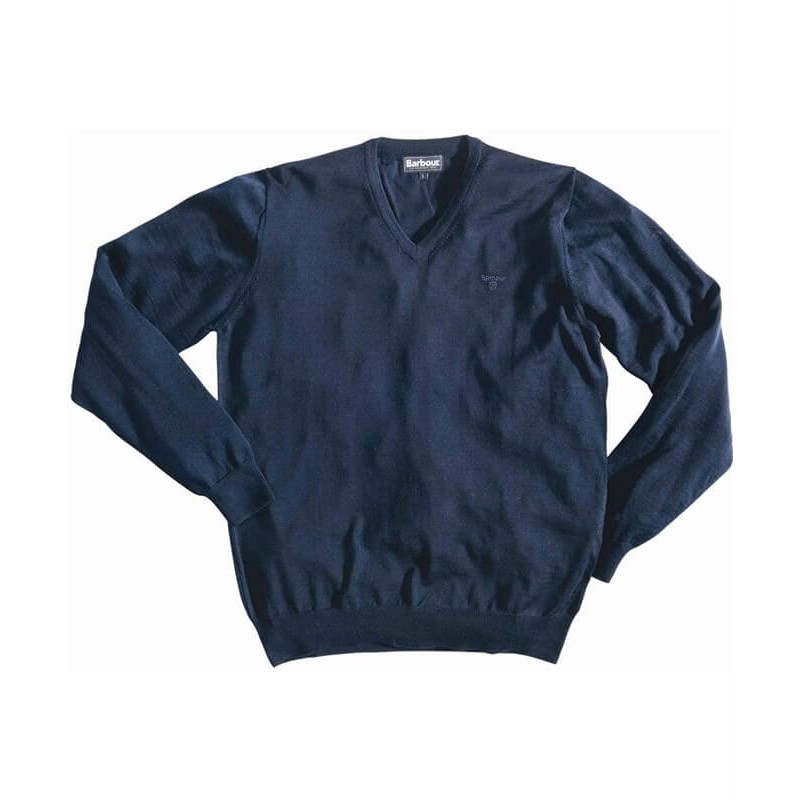 Barbour Merino deep blue - Jerseys BARBOUR