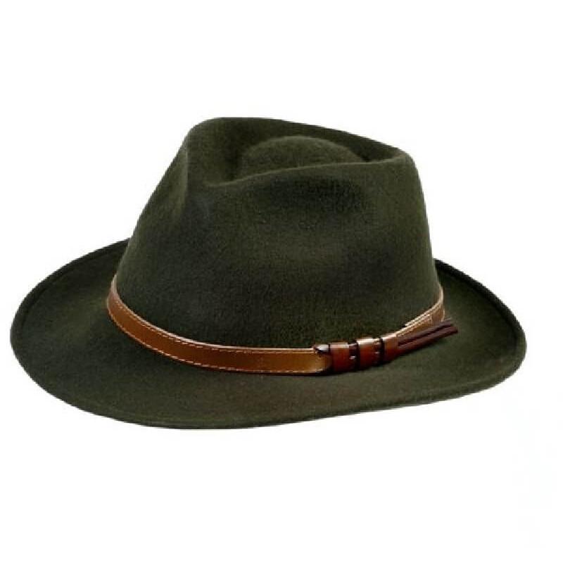 Sombrero Curzon Classics AVON verde - SOM-AVON-VE - Curzon Classics - Gorros y Sombreros CURZON CLASSICS