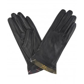 Barbour Tartan Trimmed Leather - Guantes BARBOUR
