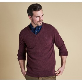 Essential lambswool V Neck - MKN0341 - Barbour - Hombre - Jerseys BARBOUR