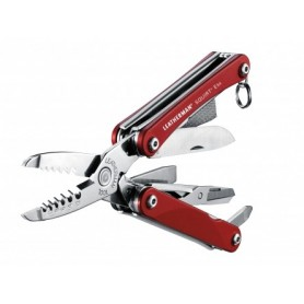 Multiherramienta SQUIRT ES4 - color rojo - sin funda - 831235 - Leatherman - Multiherramientas LEATHERMAN