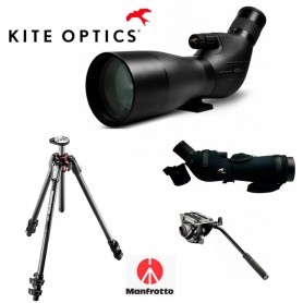 Kite SP 82 ED + Ocular 25-50x + Funda + Trípode Manfrotto 190CX Pro 3 + Rótula 500 AH - - Kite Optics - OFERTA de Telescopio...