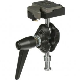 Rótula con doble bola con soporte para cámara y zapata rápida - 155RC - Manfrotto - Rótulas