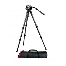 Kit video con trípode fibra de carbono MPRO 535 + rótula 504HD - 504HD,535K - Manfrotto - Trípodes MANFROTTO
