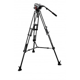 Kit video con trípode aluminio PRO 546B + rótula 504HD. Estab. media altura - 504HD,546BK - Manfrotto - Trípodes MANFROTTO