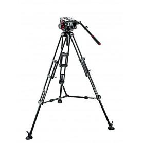 Kit video con trípode aluminio PRO 545B + rótula 509HD. Estab. media altura - 509HD,545BK - Manfrotto - Trípodes MANFROTTO