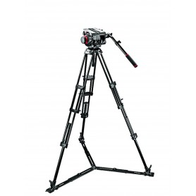 Kit video con trípode alumino PRO 545GB + rótula 509HD. Estab. ras de suelo - 509HD,545GBK - Manfrotto - Trípodes MANFROTTO