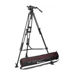 Kit video con trípode alumino PRO 545B + rótula Nitrotech N12. Estab.media altura - MVKN12TWINM - Manfrotto - Trípodes MANFROTTO