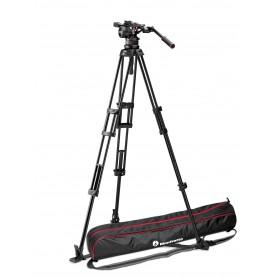 Kit video con trípode aluminio PRO 545GB+rótula Nitrotech N12. Estab. ras de suelo - MVKN12TWING - Manfrotto - Trípodes MANFR...