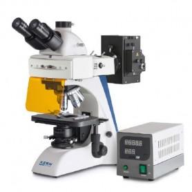 Microscopio de fluorescencia trinocular Inf Plan 4/10/20/40/100: WF10x20: 100W HBO (IL)