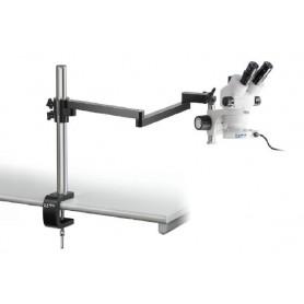 Juego de microscopio estereoscópico trinocular 0,7-4,5x: Caball bra art (abrazadera), anular LED