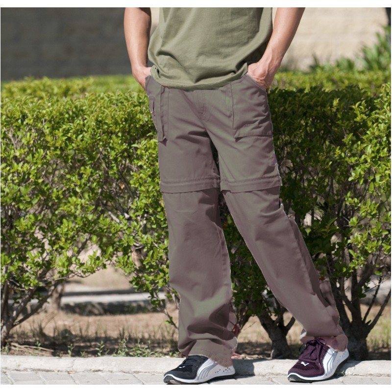 ALPHADVENTURE Pantalon Desmontable Kenia para Hombre Beige