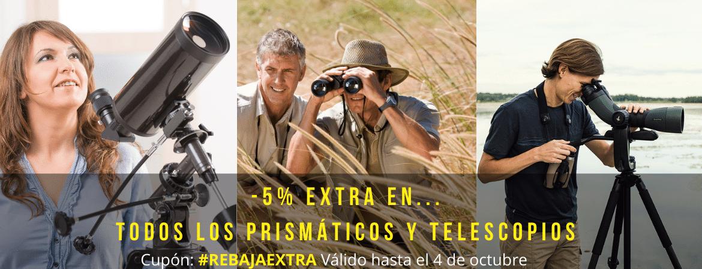 -5% EXTRA PRISMATICOS Y TELESCOPIOS